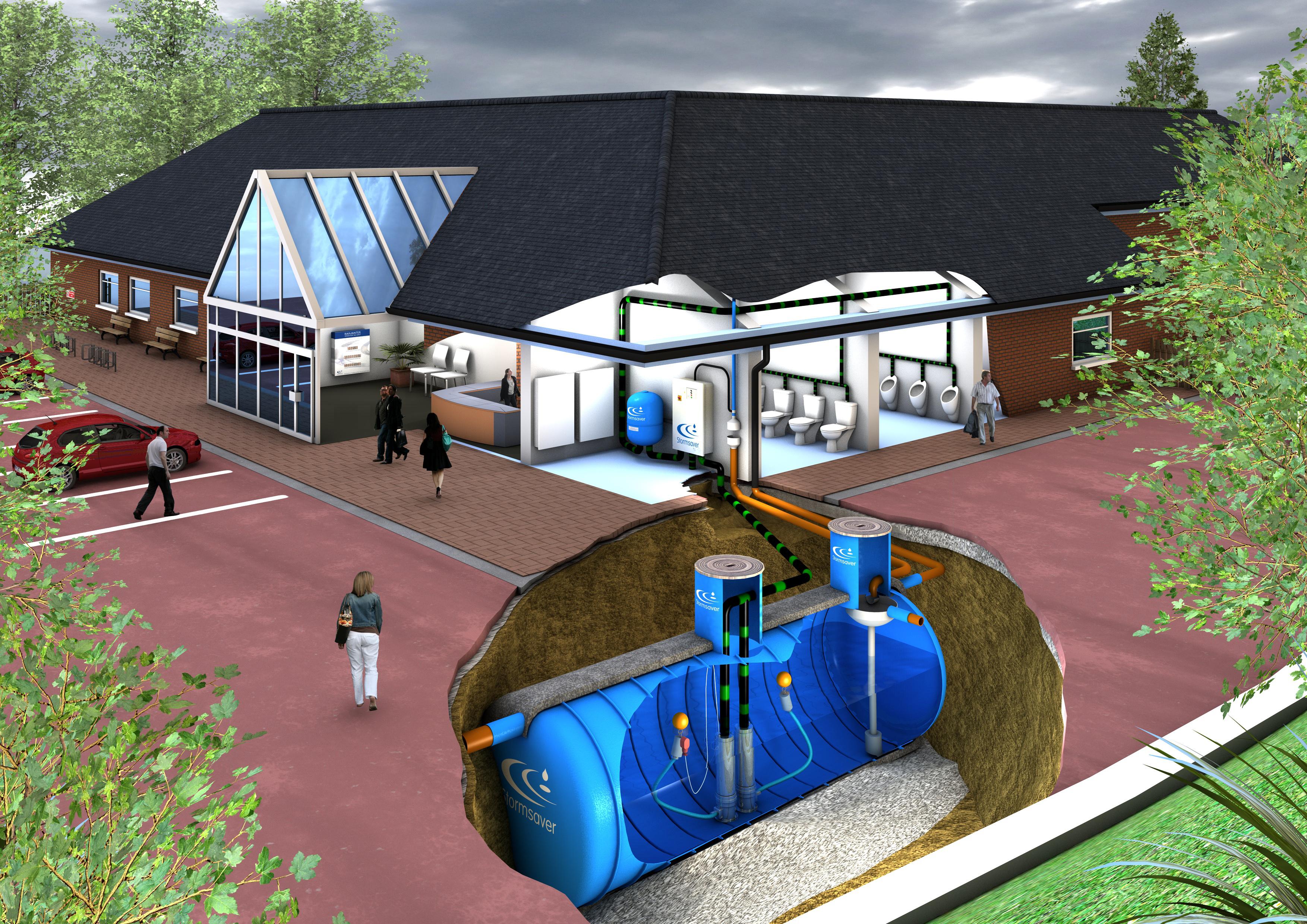 Description rainwater harvesting system jpg - Rainwater Storage