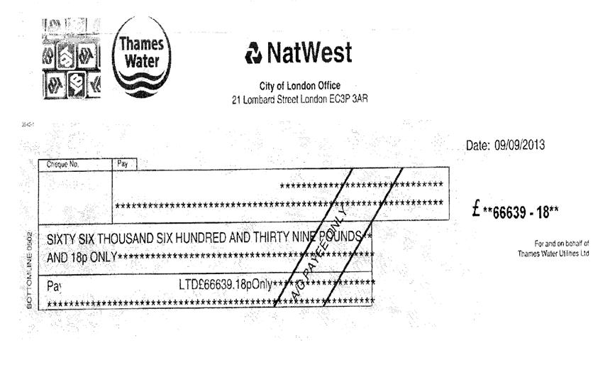 Water company overcharge