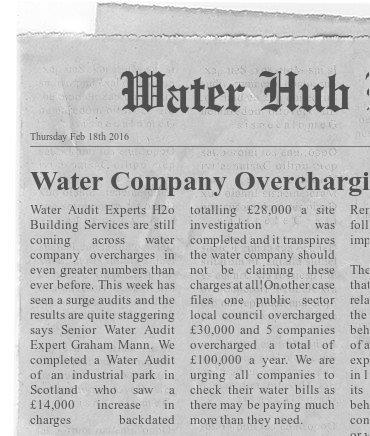 Water audit experts - H20 Building Services