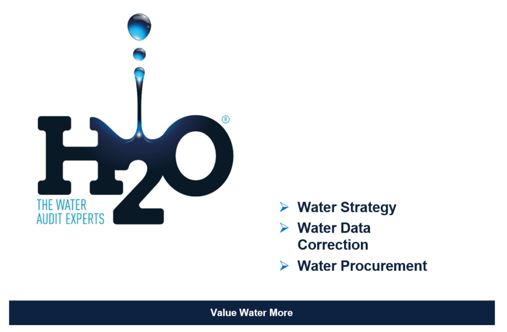 H2O Building Services - Water strategy - Water data correction - Water procurement