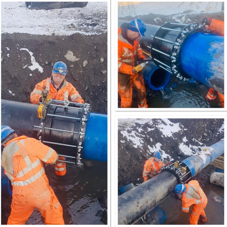 Cumbrian water pipe repair - Alternative water resources - H2O Building Services